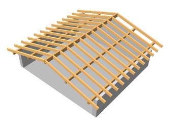 La struttura portante for Tetto in legno dwg