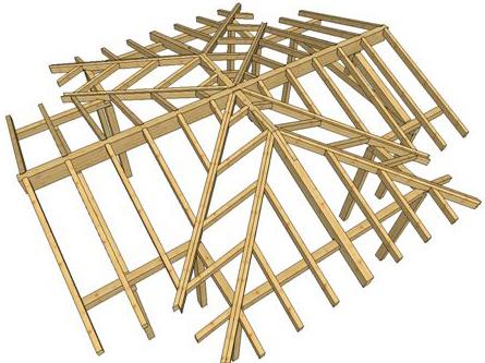 Il manto di copertura for Tettoia in legno dwg
